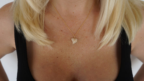 Lisa Taubes Diamond Heart Necklace