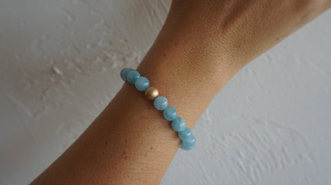 Large Aquamarine Bracelet
