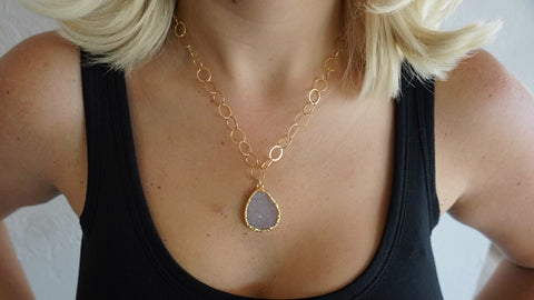 Druzy Quartz Necklace