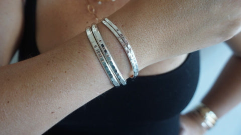 Sterling Silver Set 3 (2 Small, 2 Large)