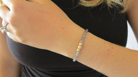 Kitty Grey Beaded Bracelet (Style 1)