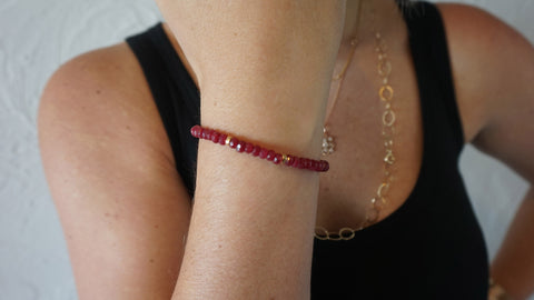 Red Jade Beaded Bracelet (Style 2)