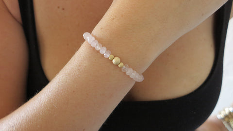 Rose Quartz Beaded Bracelets (Style 1)