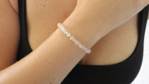 Rose Quartz Beaded Bracelets (Style 2)