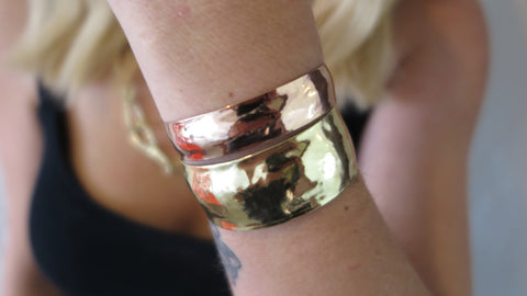 Rose & Yellow Gold Cuff Set 1