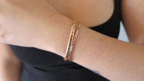 Rose Gold Set 3 (1 Thin, 1 Thick)