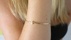 Blooming Gold Bangle