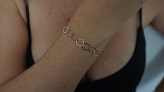 Single Rose Gold Vermeil Bracelet