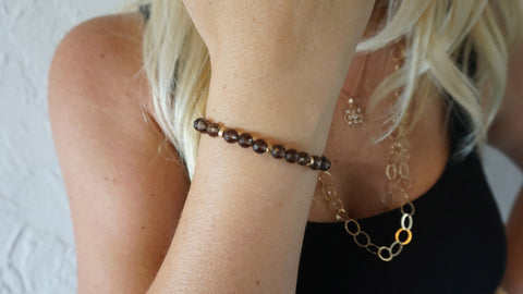 Smokey Quartz Beaded Bracelets (Style 2)