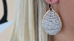 Posh Moonstone Earrings