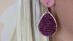 Posh Garnet Earrings
