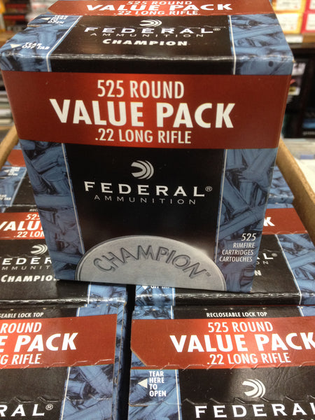 FEDERAL RIMFIRE 525 CARTRIDGES $58/525 or $462/5250