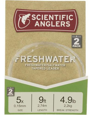 Scientific Anglers Freshwater Leader 2 Pack