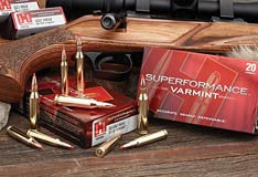 HORNADY 204 RUGER in 32gn & 40gn V-MAX and 17 HORNET V-MAX.