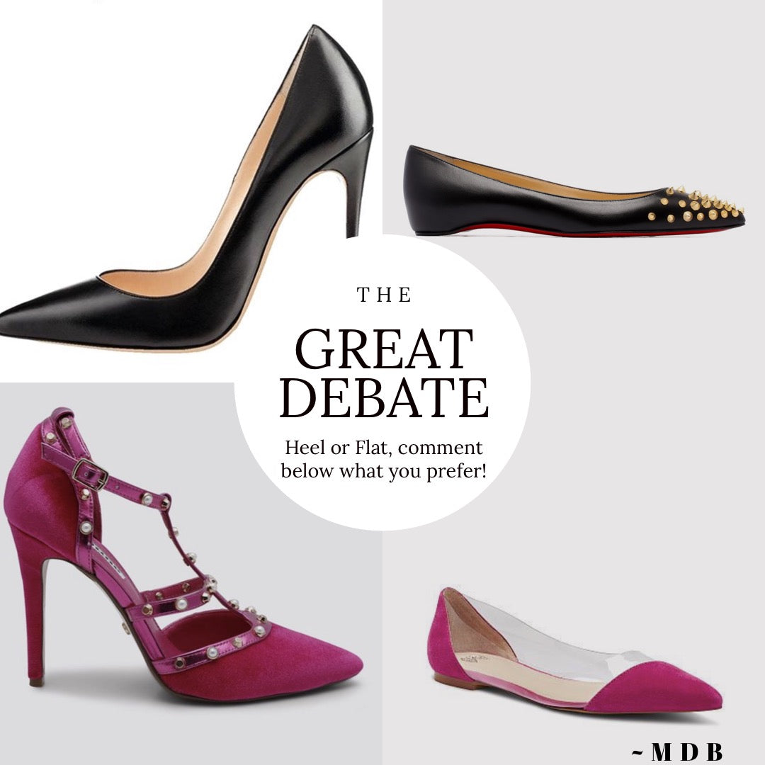 The Great Debate: Heels or Flats!