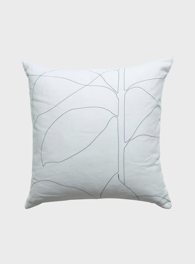 White Floral Cushion Cover 60cm