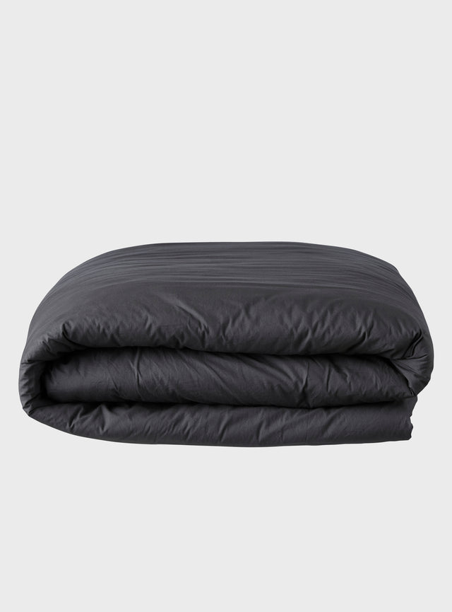 Stonewashed Quilt Cover Charcoal