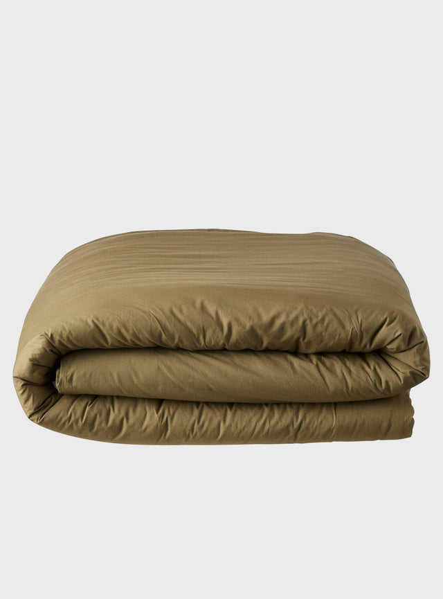 Stonewashed Quilt Cover Olive