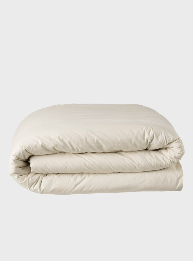 Stonewashed Quilt Cover Oatmeal