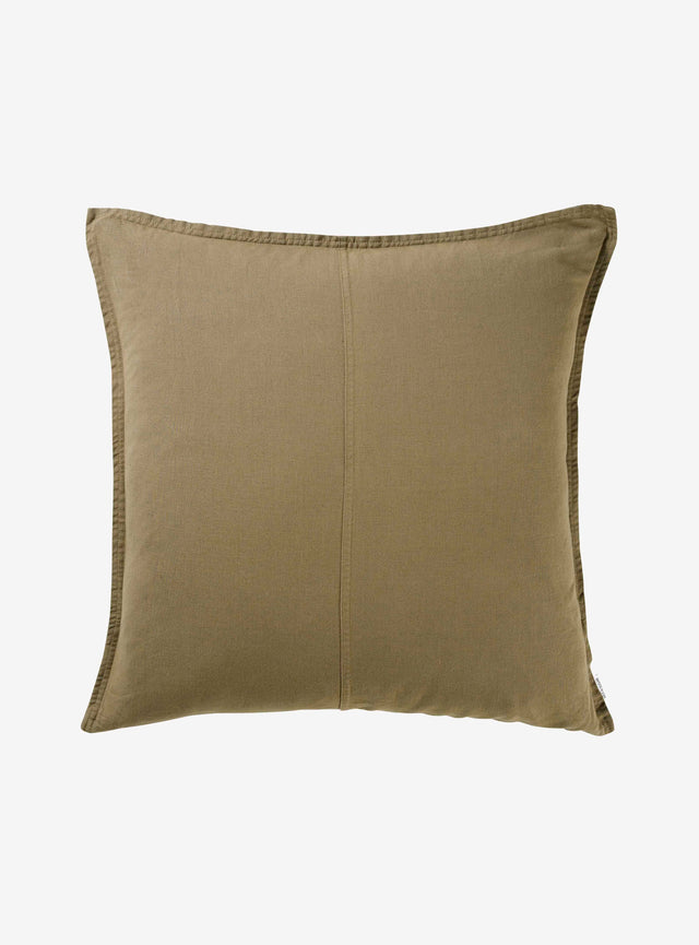 Olive Pannelled Cushion Cover 60cm