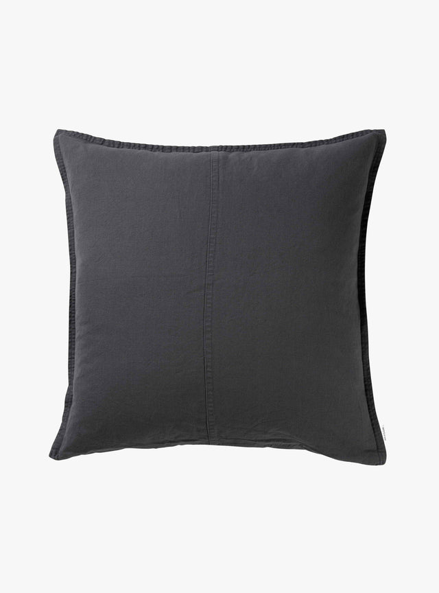 Charcoal Pannelled Cushion Cover 60cm