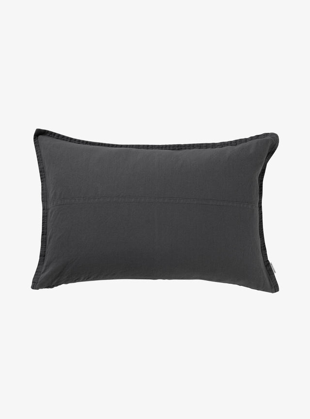 Charcoal Pannelled Cushion Cover 40 x 60cm