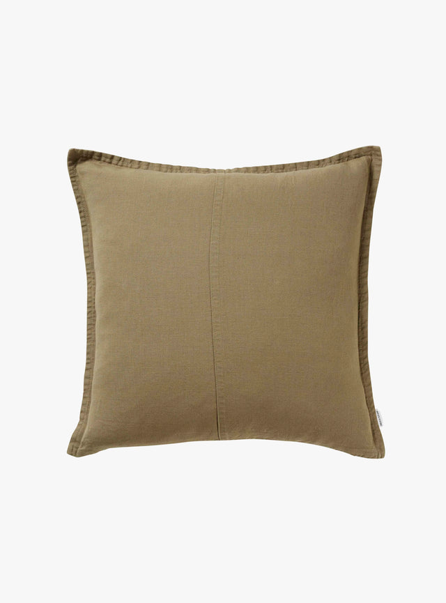 Olive Pannelled Cushion Cover 50cm