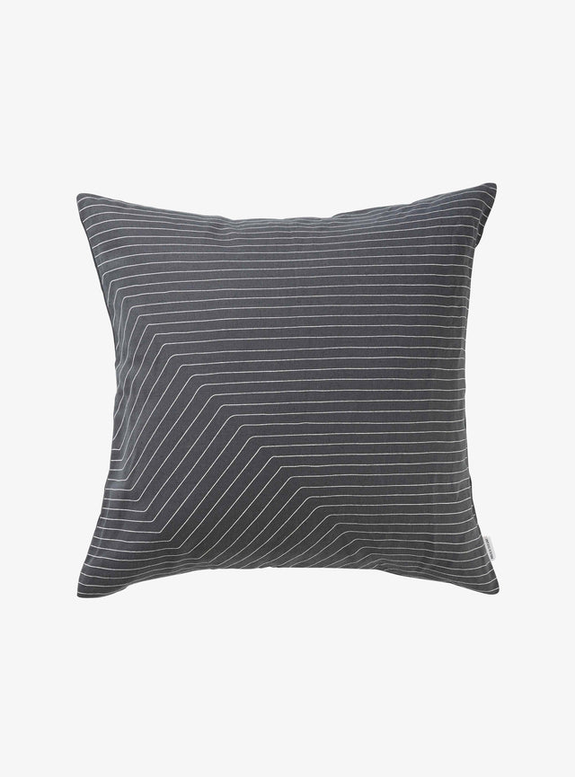Charcoal Step Cushion Cover 50cm