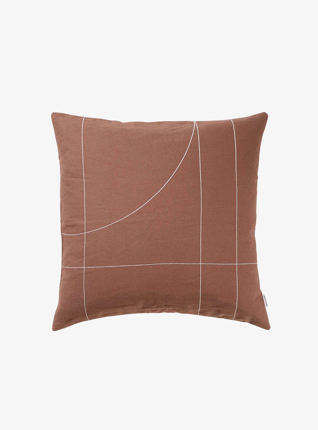 Nutmeg Block Cushion Cover 50cm