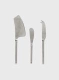 Asta 3pc Cheese Set Silver