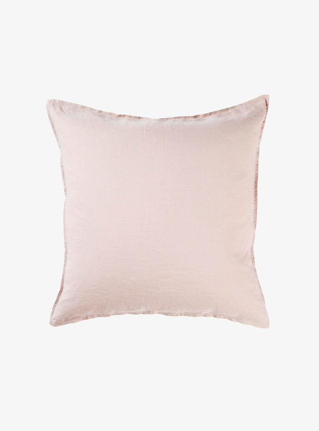 Dusty Pink Linen Euro Pillow Case Set