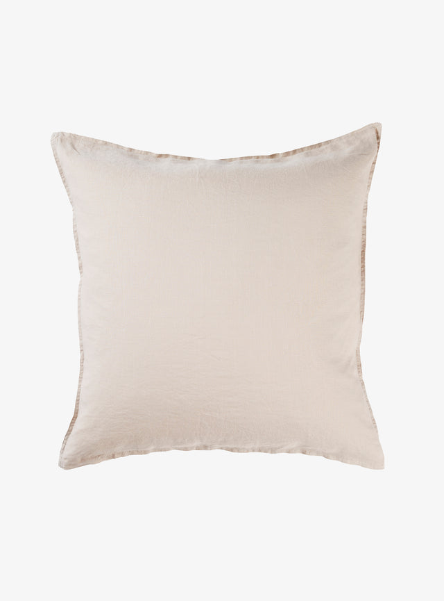 Stone Linen Euro Pillow Case Set