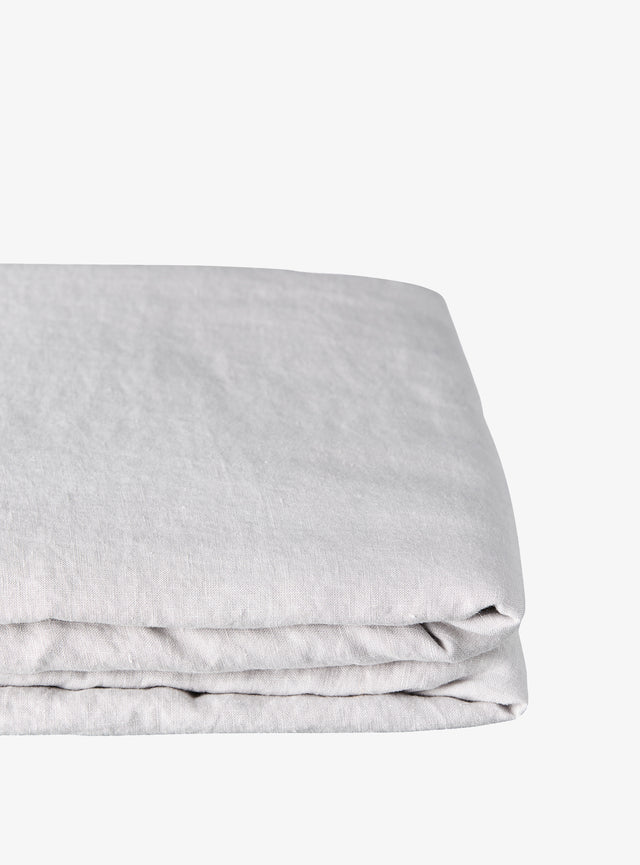 Dove Linen Fitted Sheet