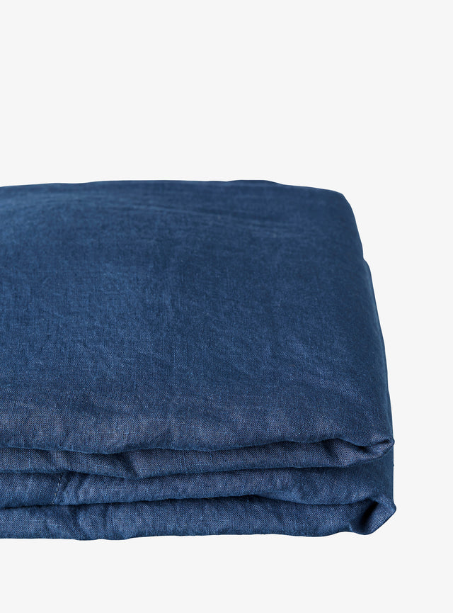 Navy Linen Euro Pillow Case Set