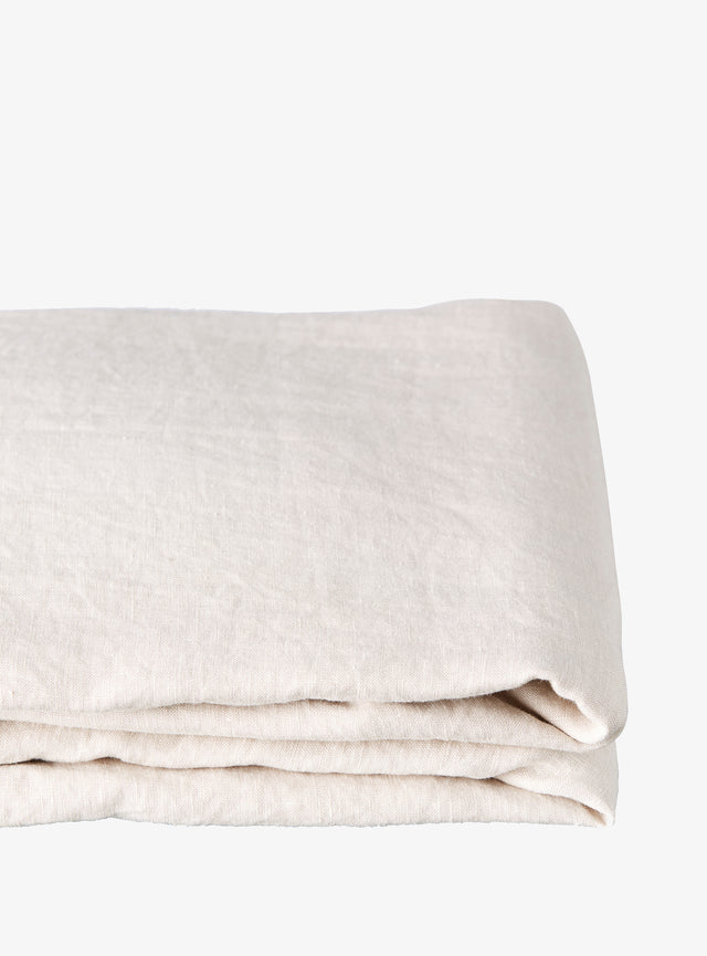Stone Linen Fitted Sheet