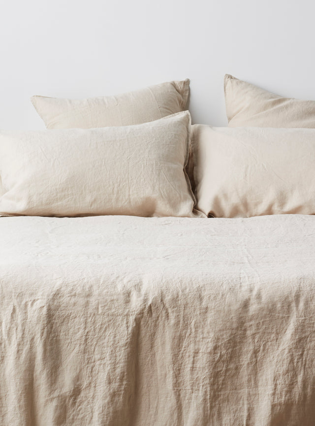 Stone Linen Quilt Cover