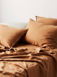 Honey Linen Euro Pillow Case Set