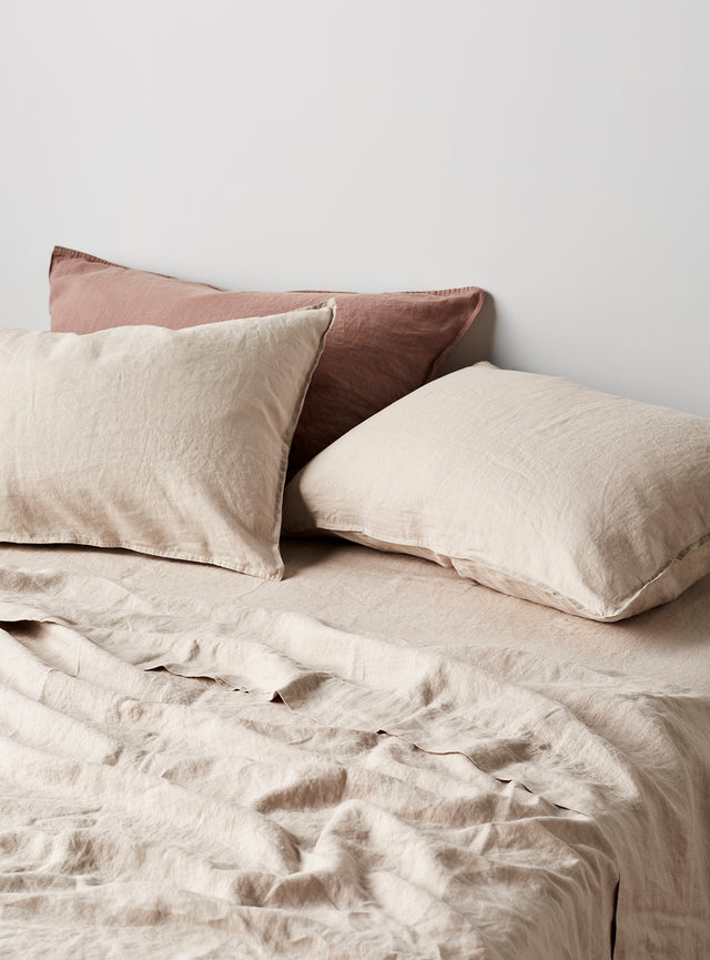 Stone Linen Pillow Case Set