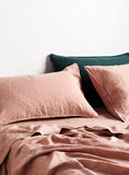 Rose Linen Fitted Sheet