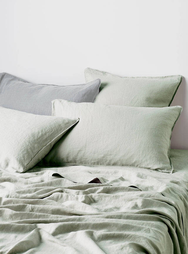 Sage Linen Pillow Case Set