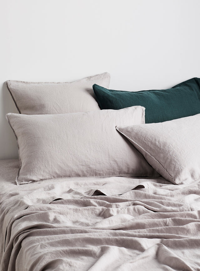 Dove Linen Pillow Case Set