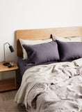Slate Linen Pillow Case Set