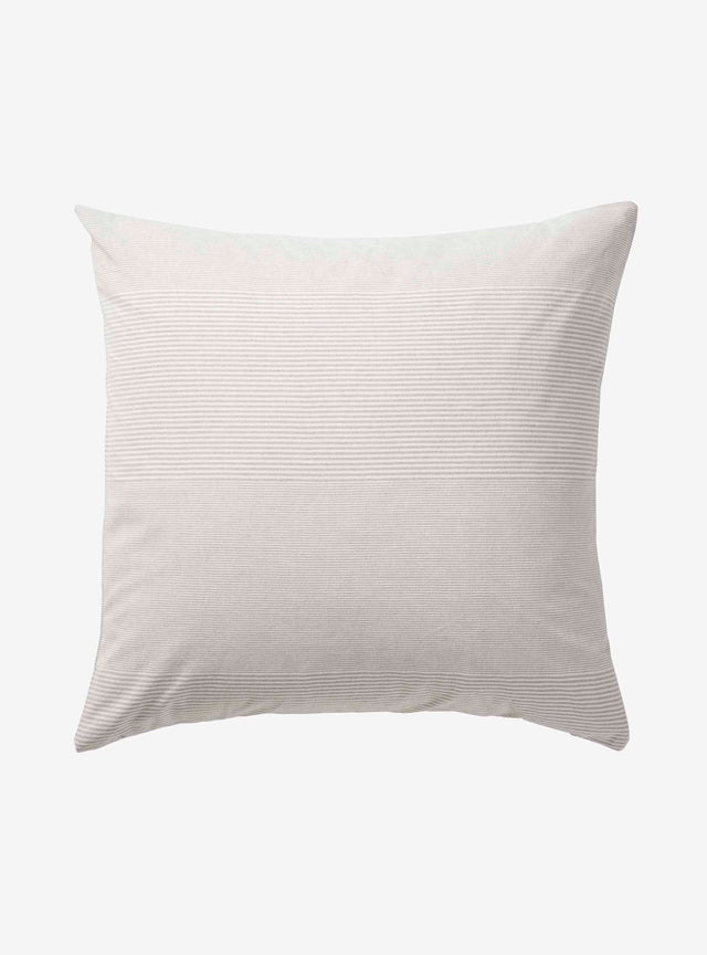Light Grey Stripe Chambray Cushion Cover 60cm