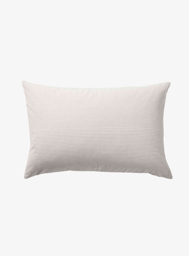 Light Grey Stripe Chambray Cushion Cover 40 x 60cm