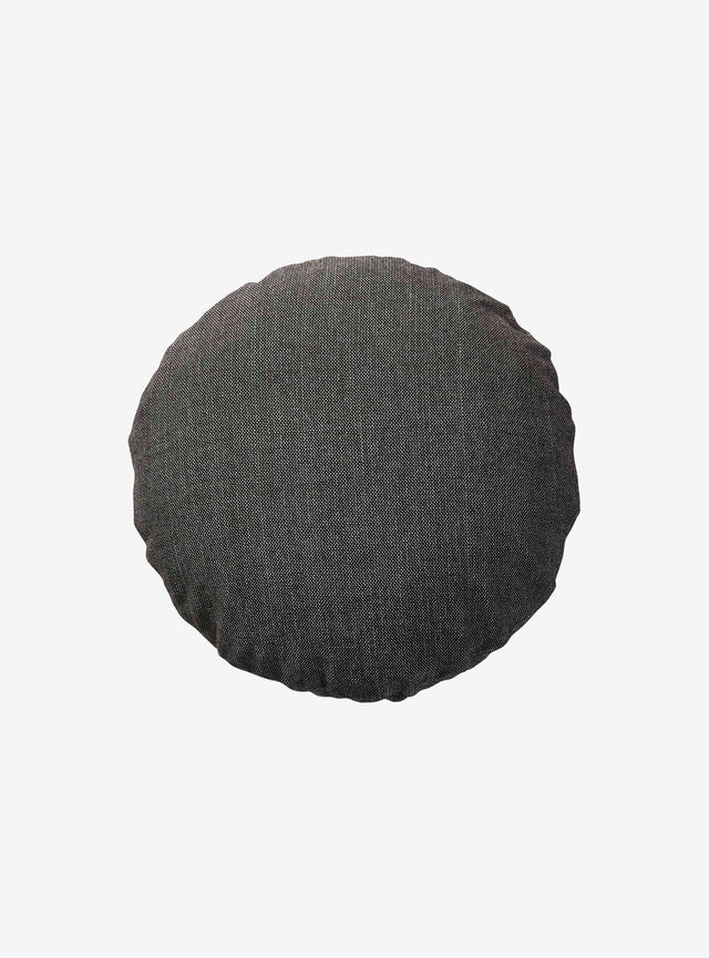 Anthracite Woven Cushion Cover Round