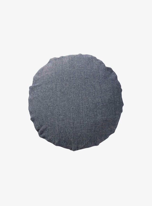 Denim Woven Cushion Cover Round