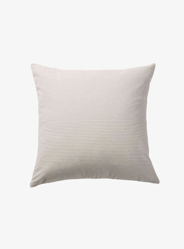 Light Grey Stripe Chambray Cushion Cover 50cm