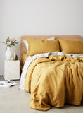 Saffron Linen Euro Pillow Case Set