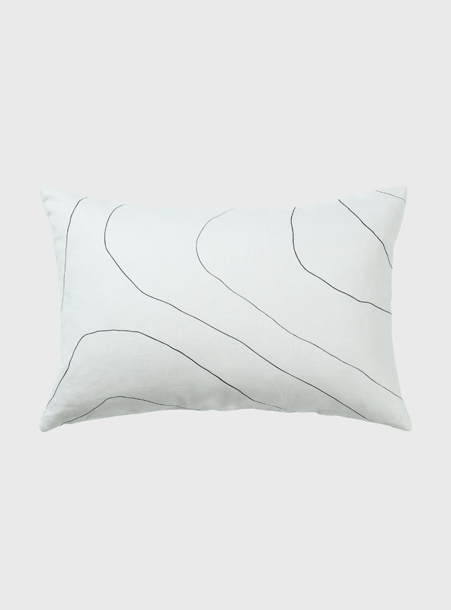 White Ripple Cushion Cover 40 x 60cm