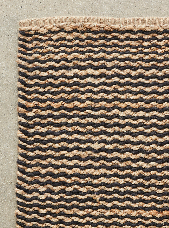 Ripple Weave Rug Natural/Coal